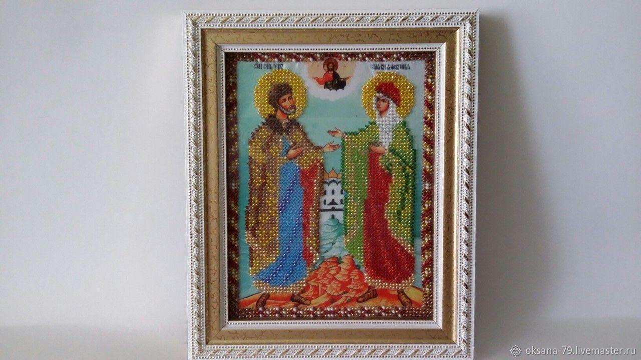Семейная икона Святых Петра и Февронии, Иконы, Энгельс, Фото №1