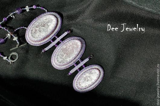 Кулоны, подвески ручной работы. Ярмарка Мастеров - ручная работа. Купить кулон Мурасаки. Handmade. Фиолетовый, кулон с лепидолитом, восток