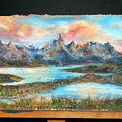 """Картины и панно ручной работы. Ярмарка Мастеров - ручная работа Картина пастелью """"Патагония"""". Handmade."""