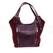 Сумки и аксессуары handmade. Livemaster - original item Women`s leather bag Burgundy