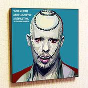 Картины и панно handmade. Livemaster - original item Alexander McQueen Poster Painting in Pop Art style. Handmade.