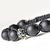 Украшения handmade. Livemaster - original item Shamballa bracelet with shungite skull c. Handmade.