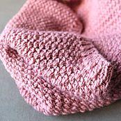 Аксессуары ручной работы. Ярмарка Мастеров - ручная работа бледно-розовый снуд. Handmade.