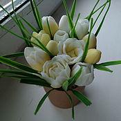 Мыло ручной работы. Ярмарка Мастеров - ручная работа Мыло: Тюльпаны в крафт стакане. Handmade.