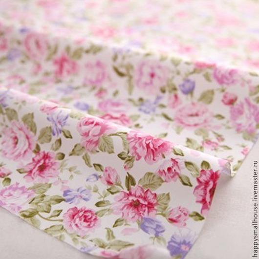 """Шитье ручной работы. Ярмарка Мастеров - ручная работа. Купить Ткань """"Розы"""". Handmade. Розовый, ткань для шитья, ткань для кукол"""