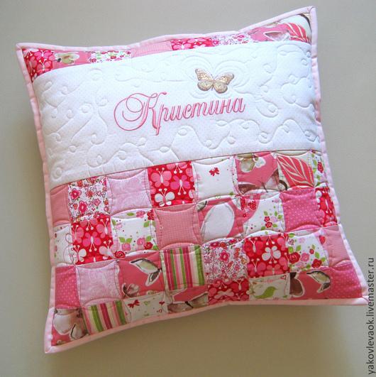 Текстиль, ковры ручной работы. Ярмарка Мастеров - ручная работа. Купить Подушки с вышивкой имени. Handmade. Подушка, для детей