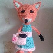 Мягкие игрушки ручной работы. Ярмарка Мастеров - ручная работа Мягкие игрушки: лисичка-сестричка. Handmade.