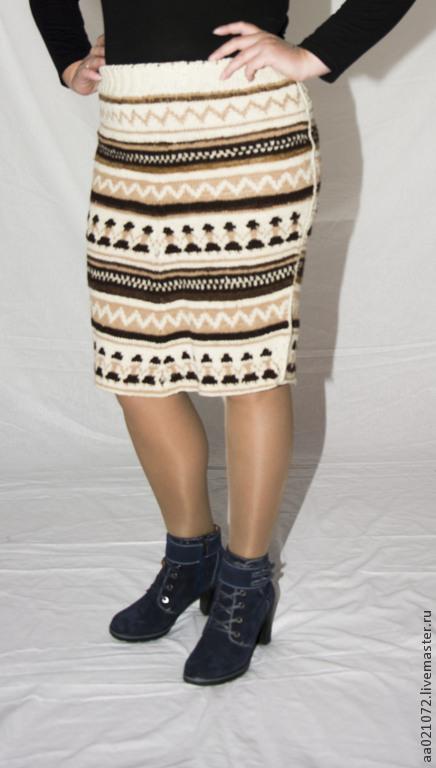 """Юбки ручной работы. Ярмарка Мастеров - ручная работа. Купить Юбочка вязаная """"Мексиканцы"""". Handmade. Орнамент, жаккард, женская юбка"""