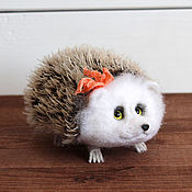 handmade. Livemaster - original item The hedgehog on the legs of the toy from wool. Handmade.