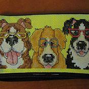 Сумки и аксессуары handmade. Livemaster - original item Dogs with glasses. Handmade.