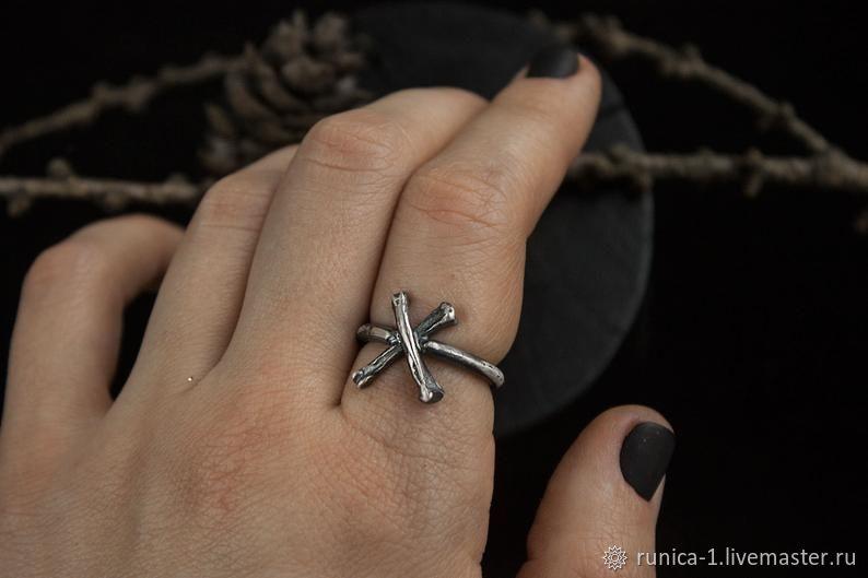 Кольцо Гебо Руна Футарка, Фаланговое кольцо, Севастополь,  Фото №1