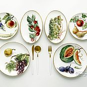 Посуда handmade. Livemaster - original item The painted porcelain Set Their crops. Handmade.