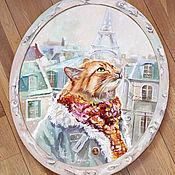 Картины и панно ручной работы. Ярмарка Мастеров - ручная работа Картина маслом Однажды в Париже. Handmade.