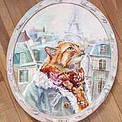 Картины и панно handmade. Livemaster - original item Oil painting One day in Paris. Handmade.
