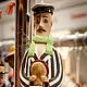 """Портретные куклы ручной работы. Ярмарка Мастеров - ручная работа. Купить Керамическая кукла-колокольчик """"Остап Бендер"""". Handmade. Разноцветный"""