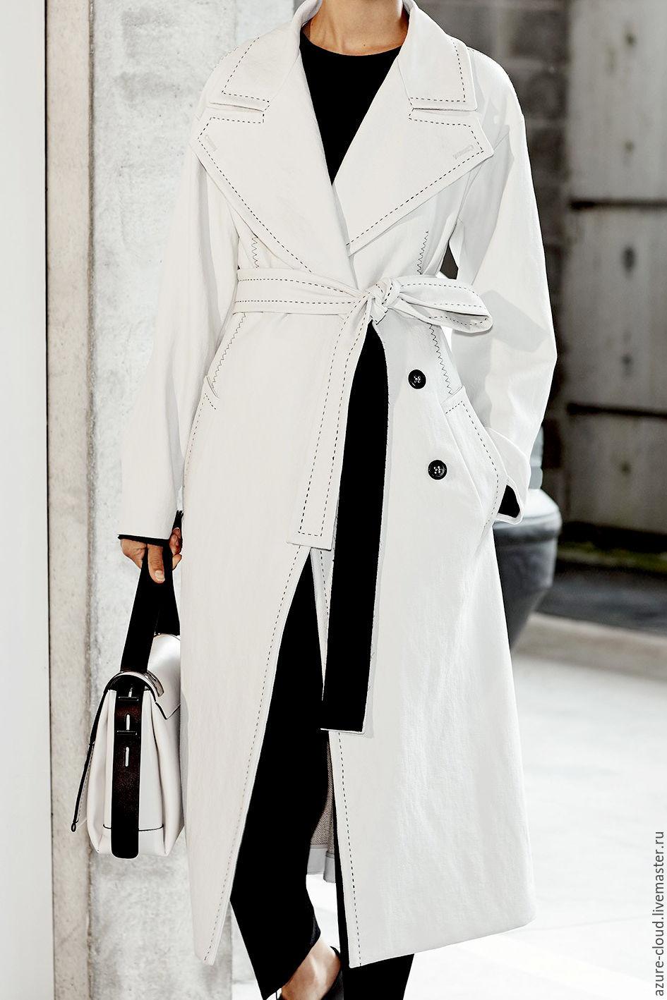 83ce73e4656 Верхняя одежда ручной работы. Ярмарка Мастеров - ручная работа. Купить  Белое пальто с ручной ...