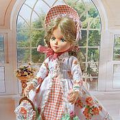 Куклы и игрушки handmade. Livemaster - original item Emily, a textile collector`s boudoir doll. Handmade.