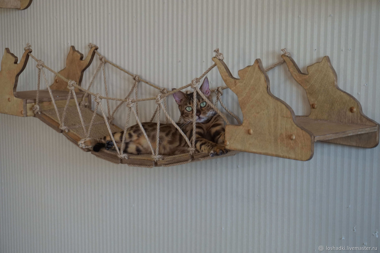 The wicker bridge for cats 'Victoria-Suite', Accessories for Pets, Pleasant,  Фото №1