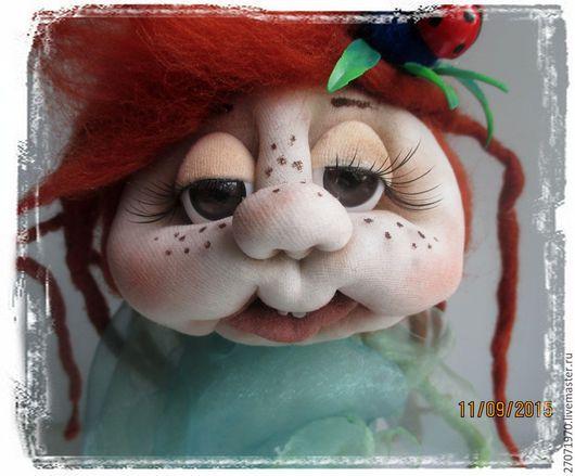 Сказочные персонажи ручной работы. Ярмарка Мастеров - ручная работа. Купить интерьерная  кукла - сувенир РОСТОЧЕК ЖИЗНИ. Handmade. Зеленый