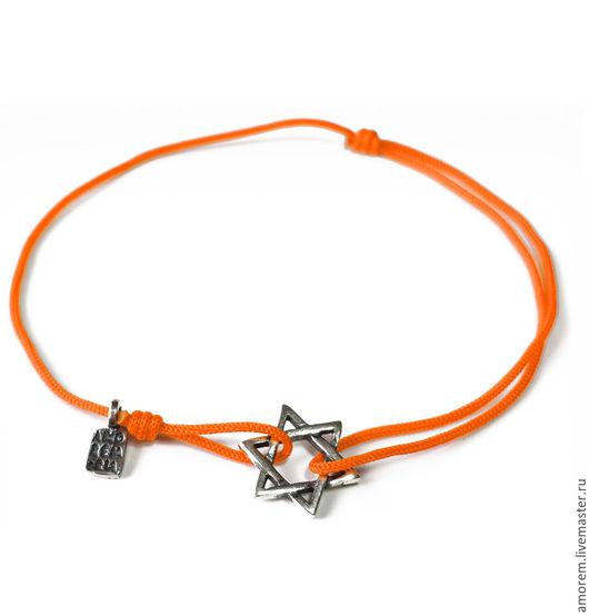 Браслеты ручной работы. Ярмарка Мастеров - ручная работа. Купить Красная нить - Звезда Давида, веревочный браслет. Handmade. Комбинированный