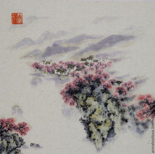 китайская живопись     японская живопись     суми-э     фен-шуй     восточный стиль     картина цветы     украшение гостиной     дизайн загородного дома     дорогой подарок для дома     декор