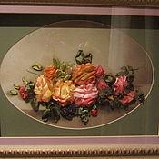 Картины и панно ручной работы. Ярмарка Мастеров - ручная работа Розы в овале. Handmade.