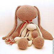 Куклы и игрушки ручной работы. Ярмарка Мастеров - ручная работа Заяц инопланетный гигантский (коричневый). Handmade.