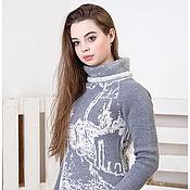 """Одежда ручной работы. Ярмарка Мастеров - ручная работа Вязаный свитер укороченный """"Фотография на память"""". Handmade."""