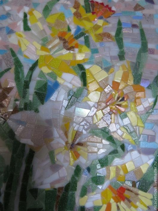 """Картины цветов ручной работы. Ярмарка Мастеров - ручная работа. Купить Панно """"Нарциссы"""". Handmade. Разноцветный, панно, заготовка из дерева"""