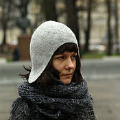 Аксессуары handmade. Livemaster - original item Winter hat felted. Handmade.