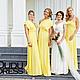 Платья ручной работы. Платья для подружек невесты жёлтые. Dudu-dress. Интернет-магазин Ярмарка Мастеров. Однотонный, платья подружек