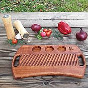 Посуда handmade. Livemaster - original item Board for serving steak and grill made of wood series