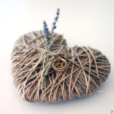 Свадебный салон ручной работы. Ярмарка Мастеров - ручная работа Подушечка-сердце  для колец. Handmade.