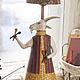 """Освещение ручной работы. Лампа """"Коза с ложками"""". 500 эскимо. Интернет-магазин Ярмарка Мастеров. Лубок, ночник"""