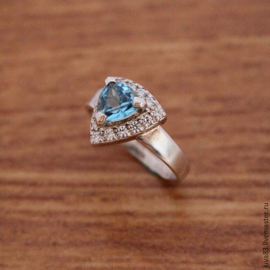 Кольца ручной работы. Ярмарка Мастеров - ручная работа. Купить Серебряное кольцо Лагуна, серебро 925. Handmade. Голубой, серебро