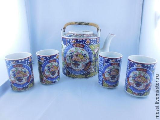 Винтажная посуда. Ярмарка Мастеров - ручная работа. Купить Винтажный чайный сервиз фарфор Япония. Handmade. Разноцветный, фарфор