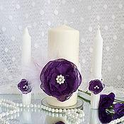 """Свадебные свечи ручной работы. Ярмарка Мастеров - ручная работа Свадебные свечи """"Цвет ночи"""". Handmade."""