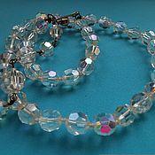Винтаж handmade. Livemaster - original item Vintage necklaces: Aurora Borealis beads/Aurora Borealis. Handmade.