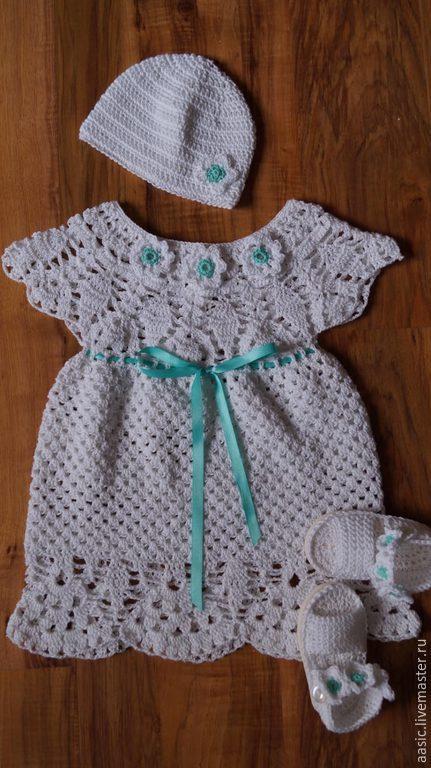 Одежда для девочек, ручной работы. Ярмарка Мастеров - ручная работа. Купить Крестильный набор для маленькой принцессы. Handmade. Белый