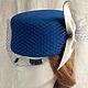 """Шляпы ручной работы. Ярмарка Мастеров - ручная работа. Купить """"Синяя птица"""". Handmade. Синий, стиль, шляпка женская"""