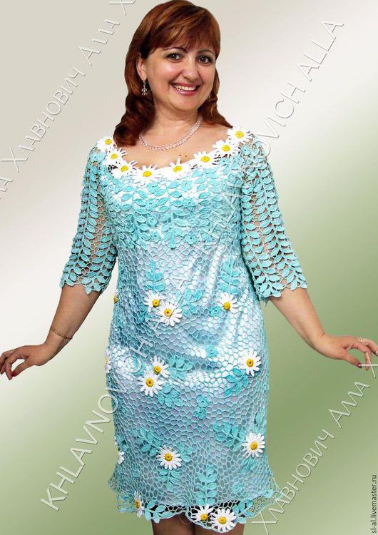 """Платья ручной работы. Ярмарка Мастеров - ручная работа. Купить Платье """"Ромашка"""" Модель №195. Handmade. Комбинированный, платье вязаное"""