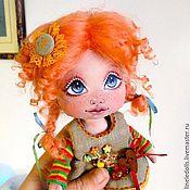 Куклы и игрушки ручной работы. Ярмарка Мастеров - ручная работа Пуговка. Текстильная кукла. Handmade.