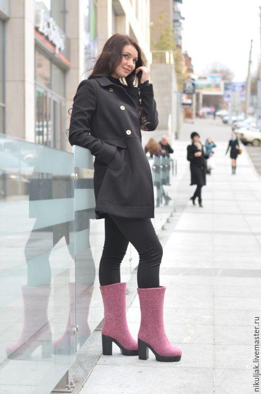 Обувь ручной работы. Ярмарка Мастеров - ручная работа. Купить Сапоги валяные Pink Diamond. Handmade. Розовый, валяные сапоги