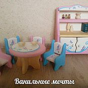 """Куклы и игрушки ручной работы. Ярмарка Мастеров - ручная работа Кукольная мебель """"Ванильные мечты"""" 2. Handmade."""