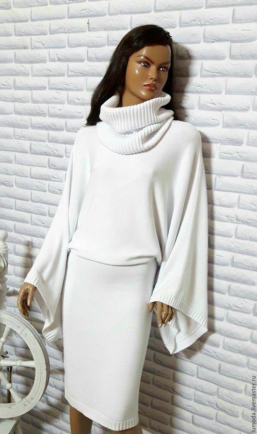 Платья ручной работы. Ярмарка Мастеров - ручная работа. Купить Платье вязаное. Handmade. Белый, платье вязаное, снуд вязаный