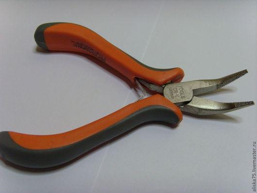 Для украшений ручной работы. Ярмарка Мастеров - ручная работа. Купить Пассатижи гнутые (серо-оранж.ручки). Handmade. Инструменты