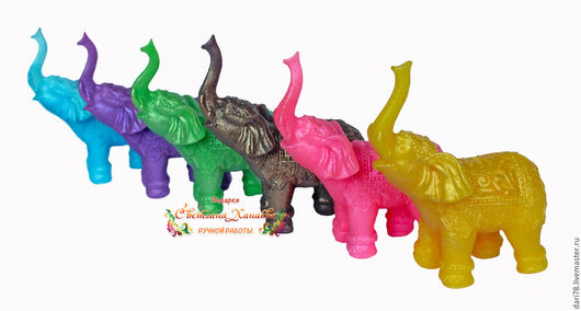 """Мыло ручной работы. Ярмарка Мастеров - ручная работа. Купить Мыло """"Слон"""".. Handmade. Комбинированный, слон, косметические отдушки"""