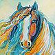 """Животные ручной работы. Ярмарка Мастеров - ручная работа. Купить Картина с лошадью """"Вместе с Ветром""""  холст масло. Handmade."""