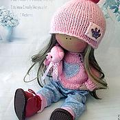 Куклы и игрушки ручной работы. Ярмарка Мастеров - ручная работа Кнопочка розовая. Handmade.