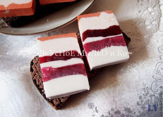 """Мыло ручной работы. Ярмарка Мастеров - ручная работа. Купить Мыло для рук """"Бутерброд с салом"""". Handmade. Бутерброд с салом, Закуска"""